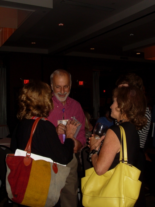 Ralph with (left to right) Pat Wissig, Barbara Farsetta, Eileen Zuckerman Friday night