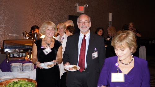 Joan Drexel, Eileen Meeker (background), Ed Gleason, Peggy Gleason