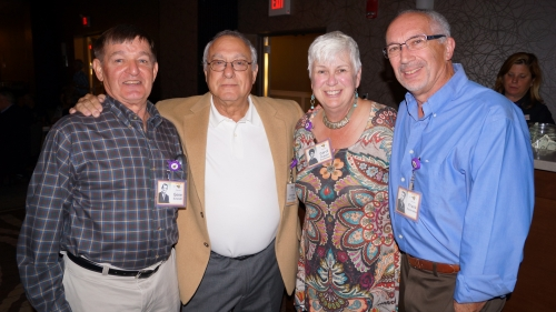 Gene Schmidt, Mark Brecher (w/ Nancy Robinson), Carol Duggan Hochreiter and husband, Frank